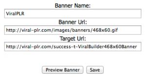 Viral Builder - Banner Ad Setup